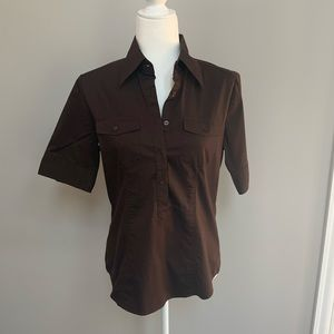 Brown Button Down Shirt NY & Company